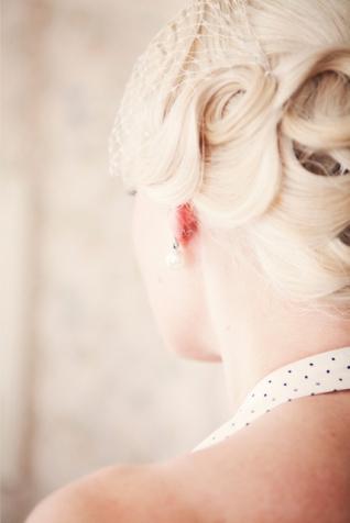 Örhängen, pärlörhängen, vintagebröllop